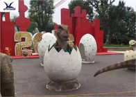 Playground Amusement Equipment Fiberglass Dinosaur Eggs Statues For Taking Photos
