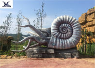 Outdoor Artificial Life Size Fiberglass Statues Octopus Models Amusement Park Equipment