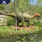 Giant Outdoor Life Like Dinosaur Model Equipment Eyes Blink , Tail Movement